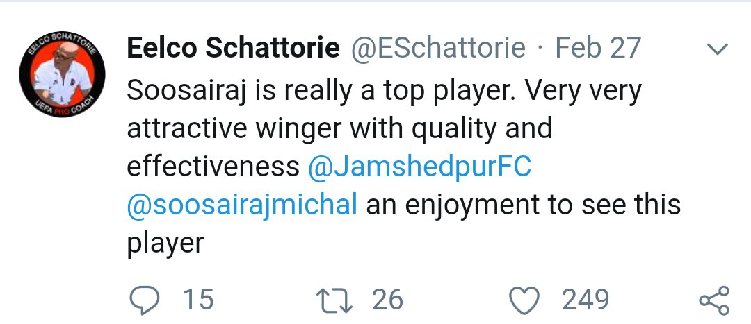 If you are a Soosairaj fan, you will pray that Eelco Schattorie becomes India's coach. screenshot 20190305 02010828400673303964069892.