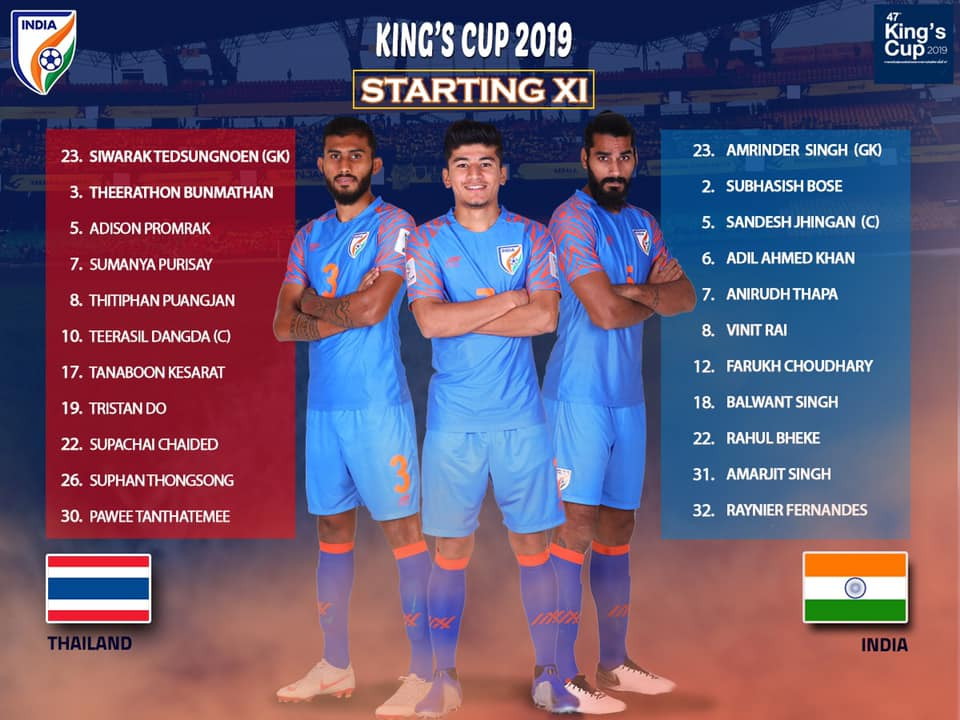 BLUE TIGERS DOMINATE OVER WAR ELEPHANTS STARTING 11 INDIA VS THAILAND