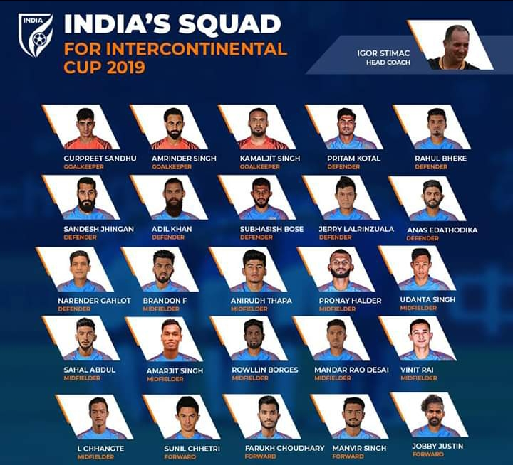 Igor Stimac names 25 member India squad ahead of Intercontinental Cup 2019,few new faces in the list WhatsApp Image 2019 07 05 at 22.24.16