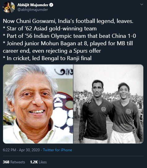 Condolences pour in as legendary Chunni Goswami passes away img 20200430 wa00152247040158482727649