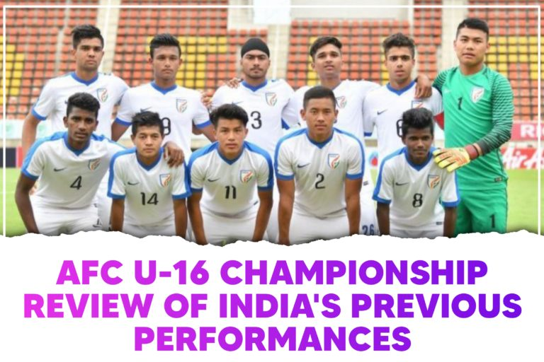 AFC U16 Championship – A Review of India's Previous Performances