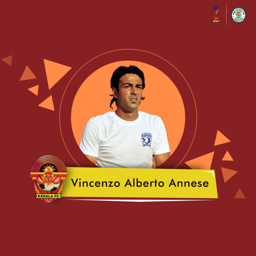 Gokulam Kerala appoint Vincenzo Alberto Annese as their Head Coach Vincenzo Alberto Annese