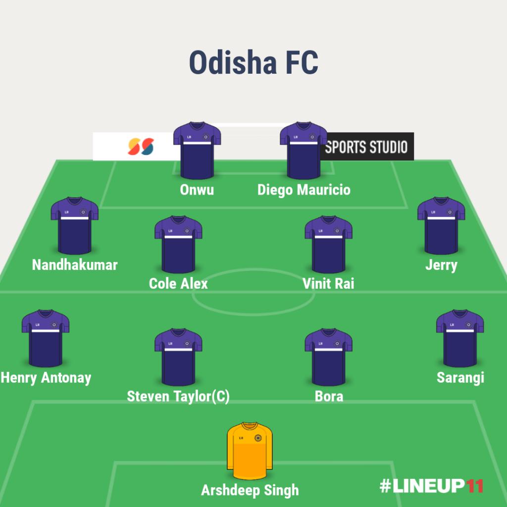Odisha FC Vs Chennaiyin FC match preview, team news and more. LINEUP111610526619386 3