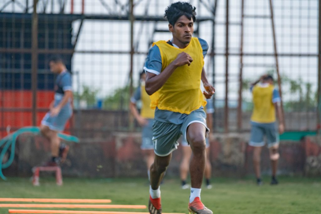 Saviour Gama- I am focused to give my best and help the team reclaim the league shield. Saviour Gama During the Training Session 1