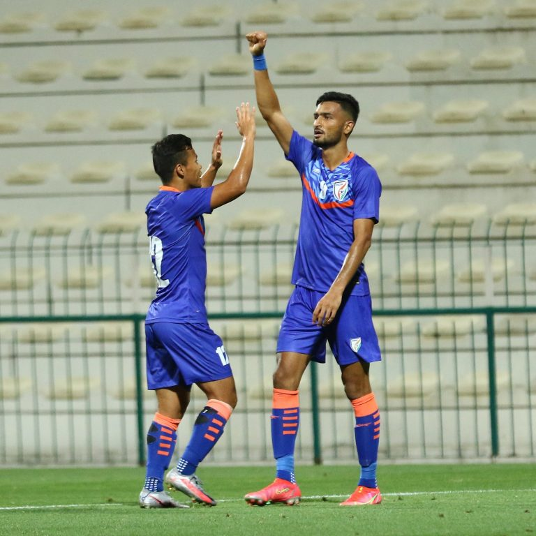 Match Report – India vs Oman   Manvir's goal helps the revamped Blue Tigers clinch a crucial draw from the jaws of defeat
