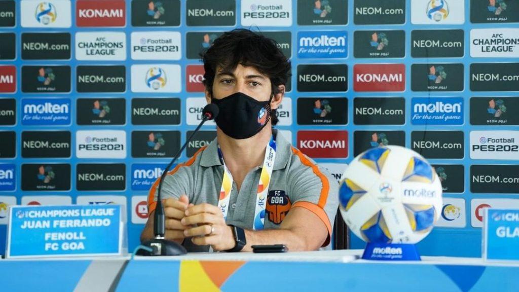 Juan Ferrando addresses the media before FC Goa's clash against Persepolis FC on Friday