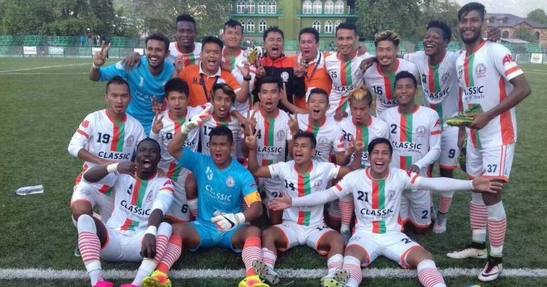 Last 5 clubs to get relegated from I-League